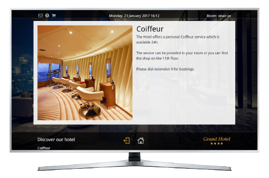 Interactive TV powered by VDA, RMS for hotel 526x348